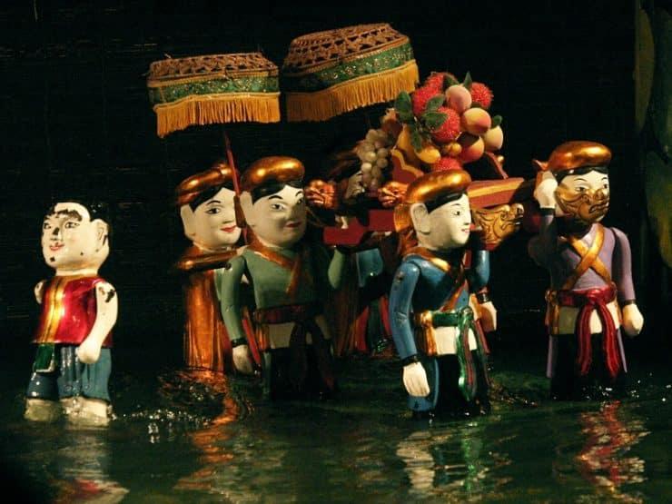 marionnettes d'eau