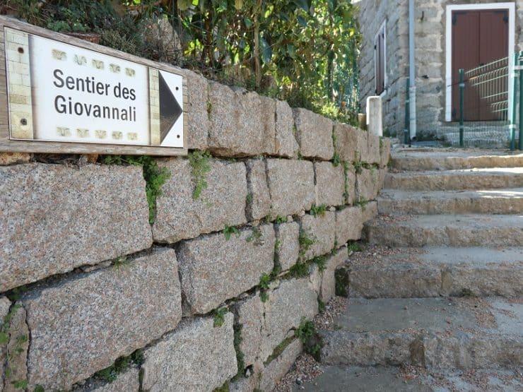 sentier des giovannali