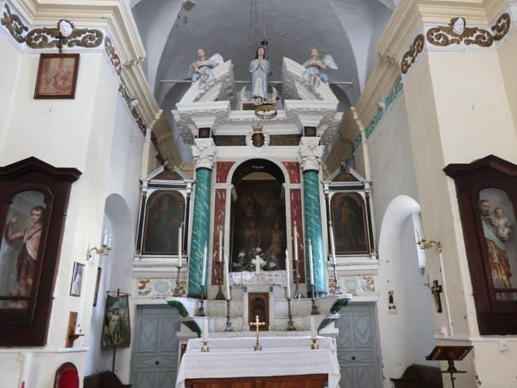 intérieur église saint sébatien silvareccio