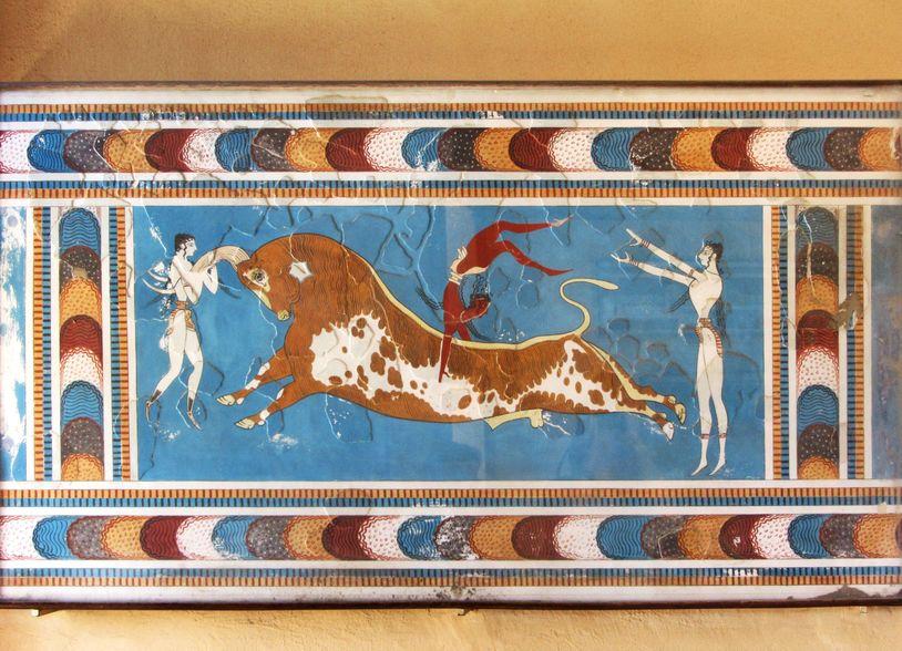 knossos fresque taureau