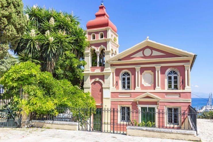 église rose à corfou