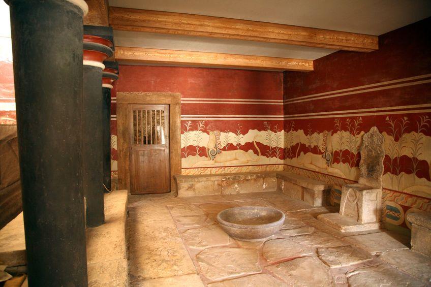 knossos salle du trone
