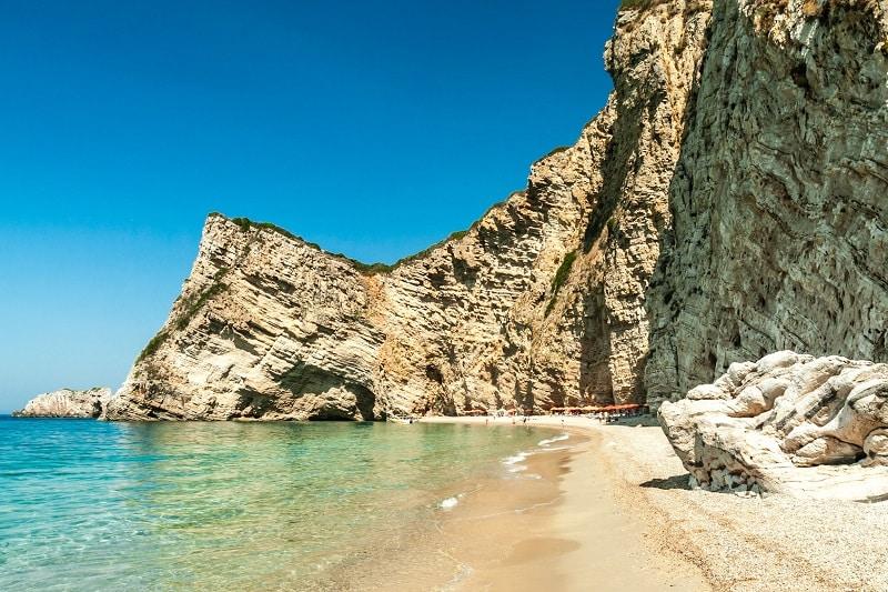 paradise beach corfou