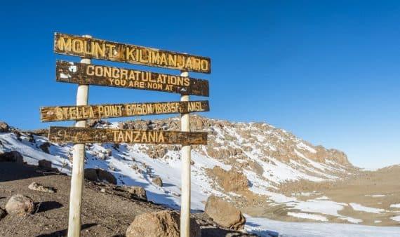 sommet du kilimandjaro