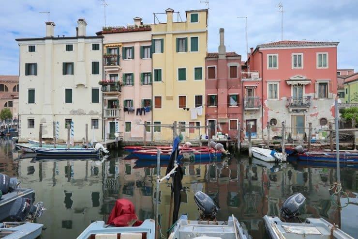 maisons colorées chioggia
