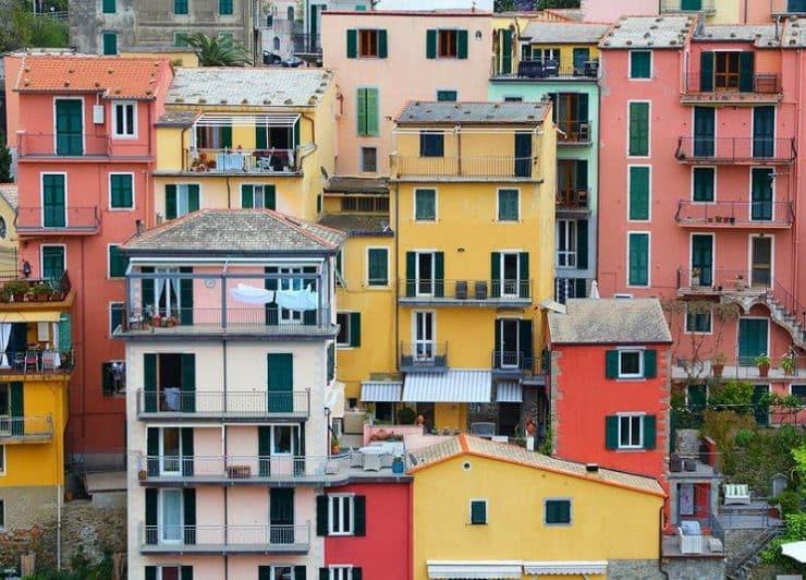 manarola maisons colorées