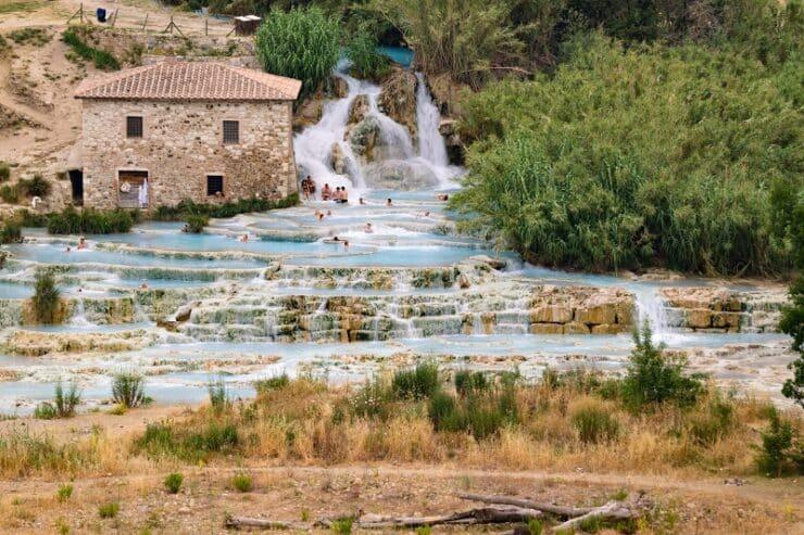 cascades du moulin en toscane