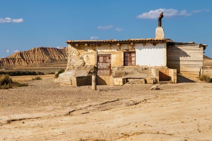 cabane désert bardenas