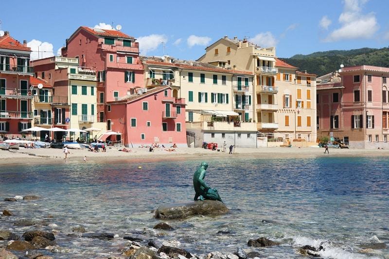 Sestri Levante statue du pêcheur