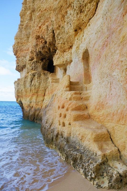 escalier Praia do Carvalho